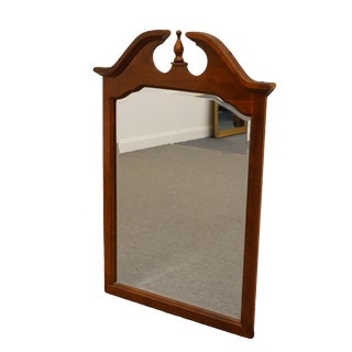 American Drew Solid Cherry Grove Pediment Top Wall Mirror For Sale