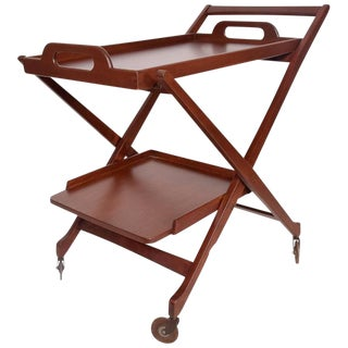 Mid-Century Modern Folding Service Cart For Sale