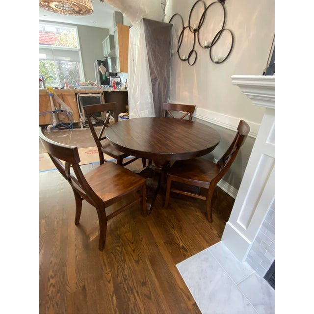 2010s Traditional Pottery Barn Dining Set - 5 Pieces For Sale - Image 5 of 7