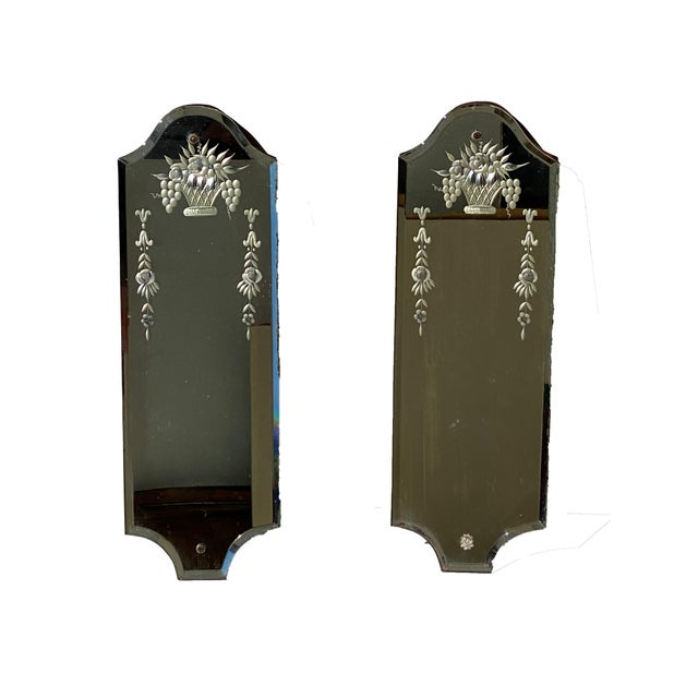 Italian Venetian Mirrors - a Pair For Sale - Image 3 of 8