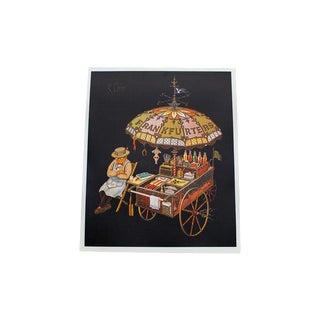 K Chin Frankfurters Vintage Lithograph For Sale