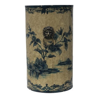 Chinoiserie Tole Paper Bin For Sale