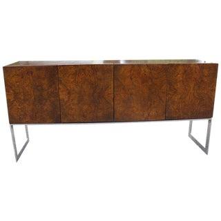 1970s Mid Century Modern Milo Baughman for Thayer Coggin Burlwood Sideboard Credenza