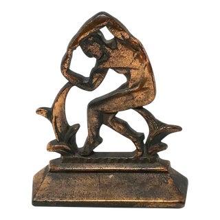 Vintage Art Deco Bronze Classical Sculpture For Sale