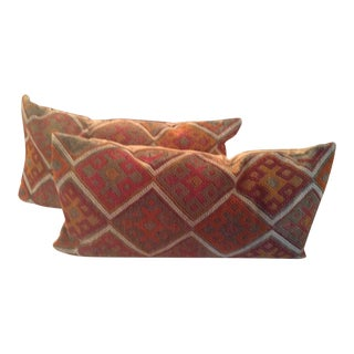 Turkish Rug King Size Pillow Covers - A Pair For Sale