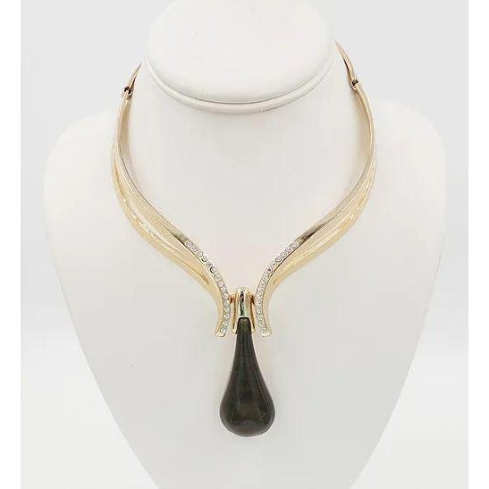 Mid-Century Modern Henkel & Grosse Germany 1972 Green Pendant Necklace For Sale - Image 3 of 12
