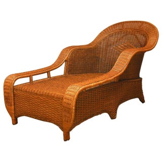 Palecek French Style Wicker Chaise Lounge