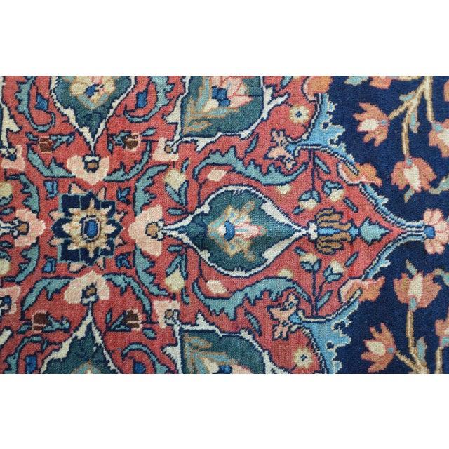 "Vintage Persian Sarouk Rug - 6'10"" X 11' - Image 6 of 10"