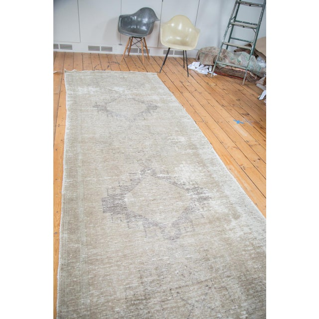 "Distressed Oushak Runner - 4'4"" X 12'9"" - Image 4 of 9"