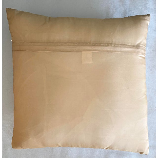 Embroidered Gold Sequined Pillows - A Pair For Sale In Miami - Image 6 of 8
