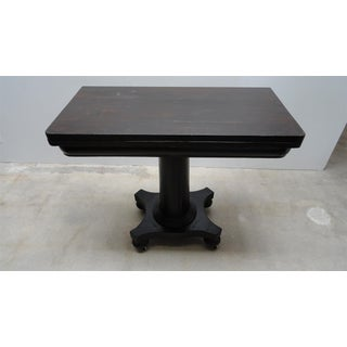 Antique Ebonized Empire Game Table and Console Preview