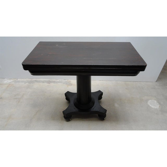 Absolutely gorgeous Empire console and game table / card table. Circa 1830-1840, American made. Solid Mahogany...