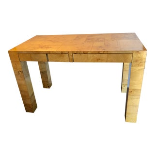 1970s Mid-Century Modern Paul Evans Burl Patchwork Desk For Sale