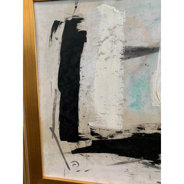 Mid-Century Modern 1960s Graham Harmon Oil Painting W/Gold Frame For Sale - Image 3 of 6