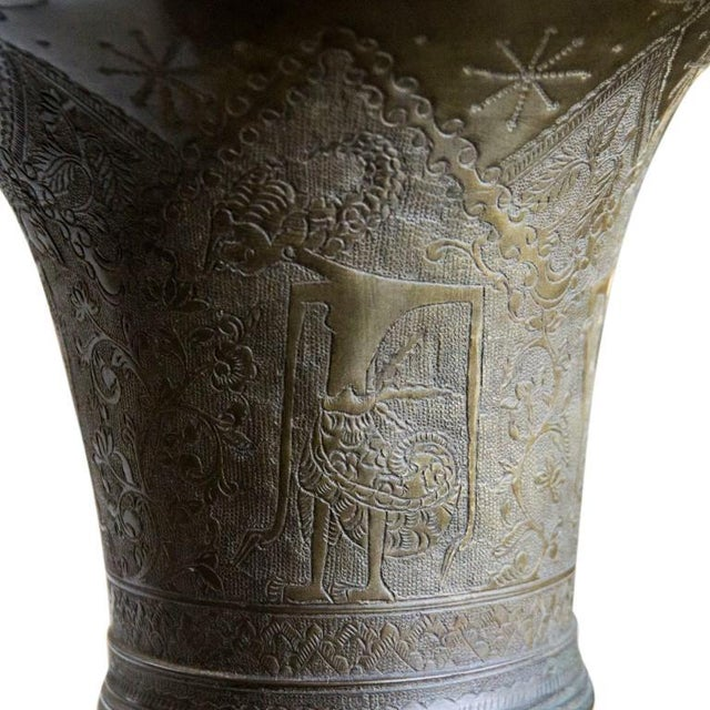 Antique 19th Century Indonesian Bronze Tapered Urns For Sale - Image 4 of 13