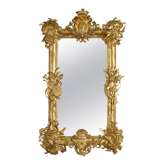 19th Century Gilded Mirror For Sale