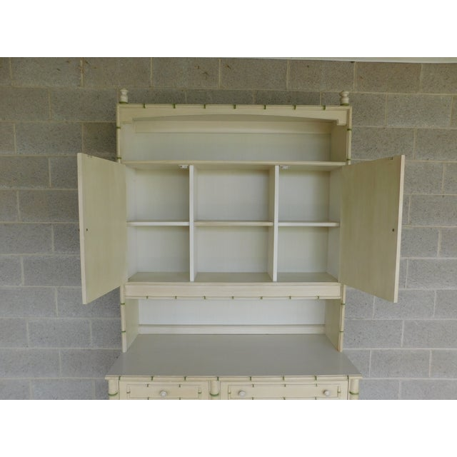 Thomasville Allegro Regency Style Faux Bamboo 3pc Desk Bookshelf and Chair For Sale In Philadelphia - Image 6 of 13