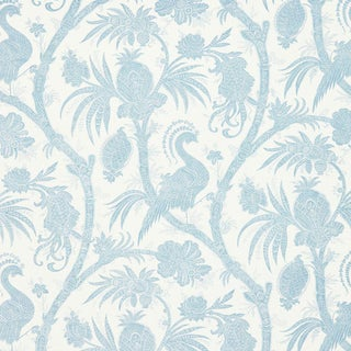 Scalamandre Balinese Peacock Fabric Sample For Sale