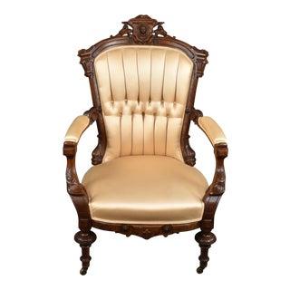 Jelliff Victorian Renaissance Revival Arm Chair For Sale