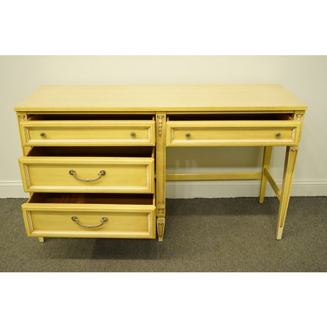 20th Century French Provincial Basic Witz Furniture Painted Cream Writing Desk For Sale In Kansas City - Image 6 of 13