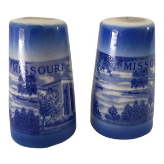 Mid-Century Missouri Souvenir Salt & Pepper Shakers - A Pair