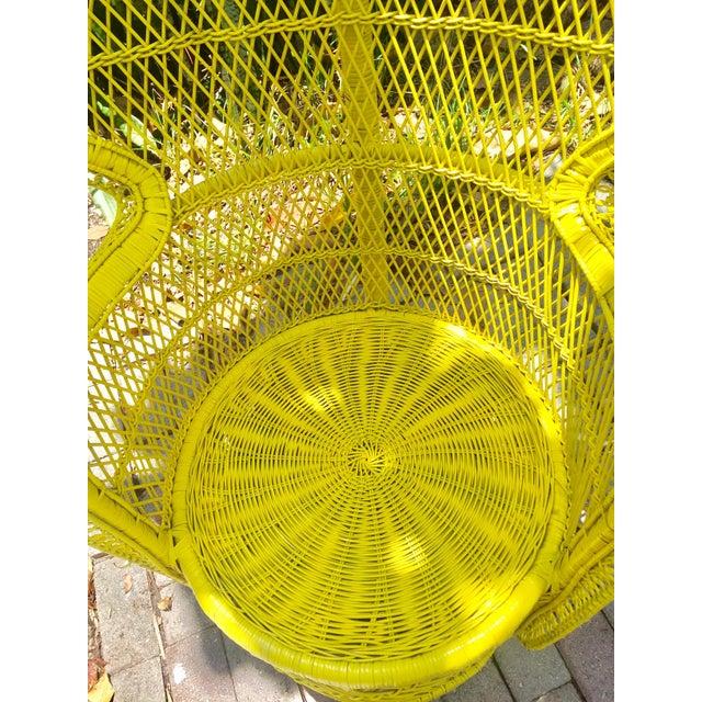 Mid-Century Rattan Wicker Fan-Back Peacock Chair - Image 6 of 9
