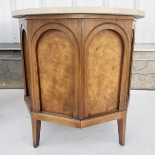 Pair Mid-Century Marble Top Nightstands by Thomasville Preview