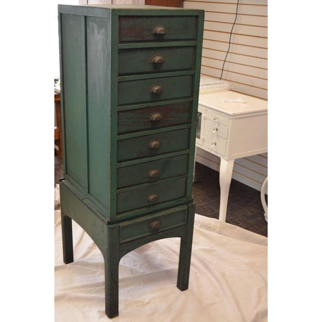Green Painted Eight-Drawer Cabinet - Image 4 of 10