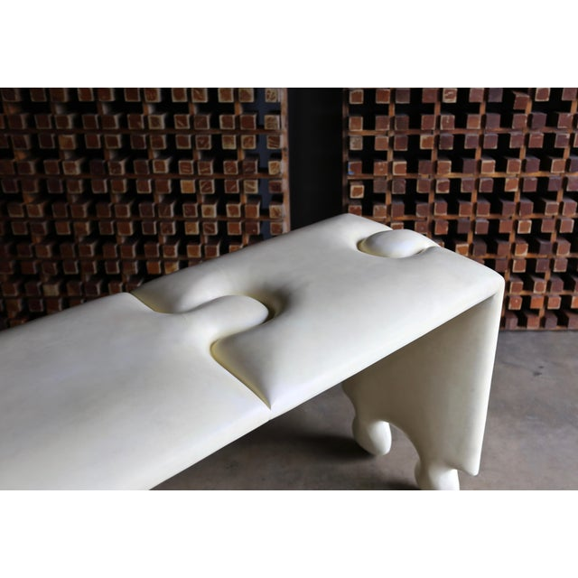 "Cream Goatskin ""Puzzle"" Console by Scala Luxury For Sale - Image 8 of 13"