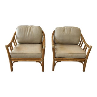 Vintage McGuire Bamboo Chairs - a Pair For Sale