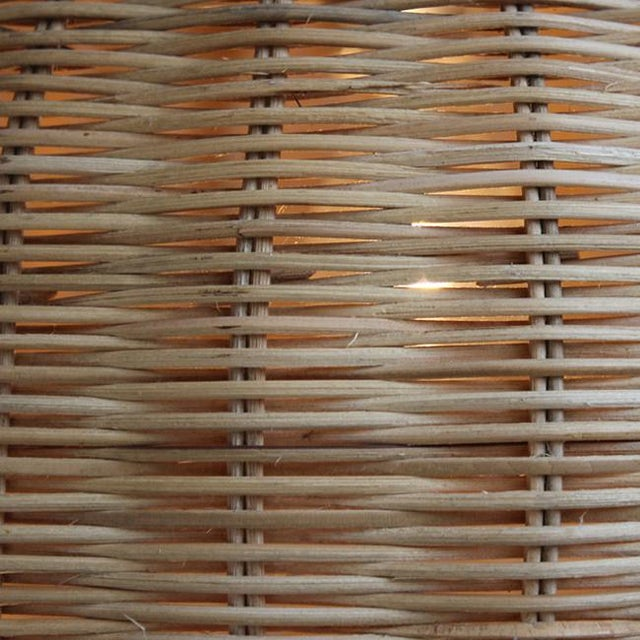 Contemporary Large Raw Wicker Bell Lantern For Sale - Image 3 of 3