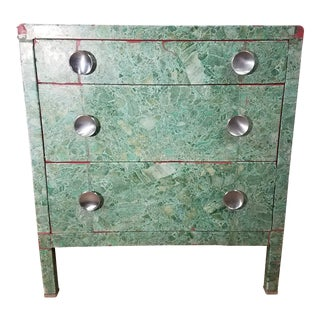 Simmons 3-Drawer Steel Green Granite Chest Of Drawers For Sale