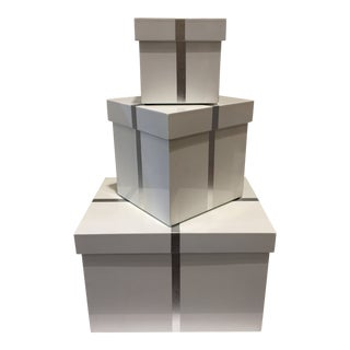 Bungalow 5 Chiffany Rectangle Nesting Boxes - Set of 3 Showroom Sample For Sale