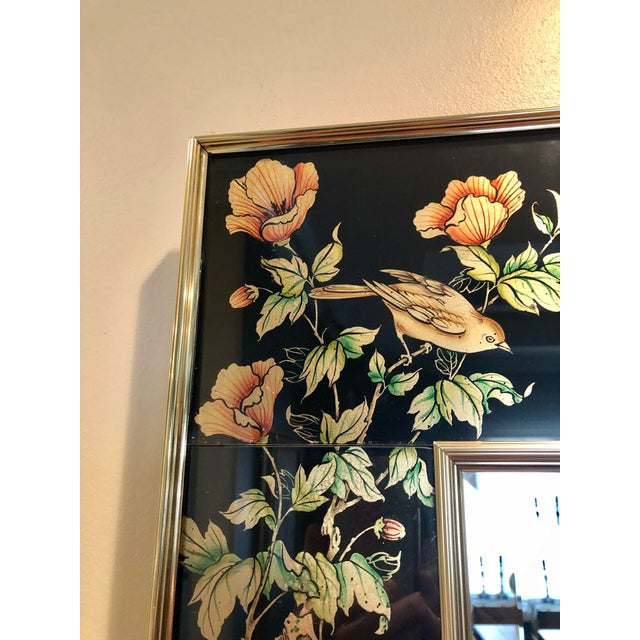 Labarge Eglomise Chinoiserie Mirror - Final Markdown For Sale - Image 10 of 12
