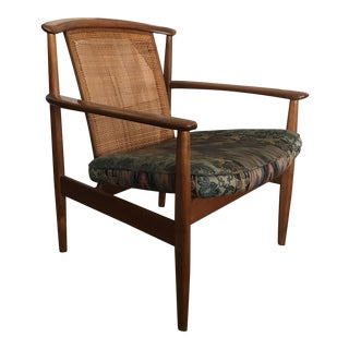 Folke Ohlsson Cane Back Lounge Chair for Dux