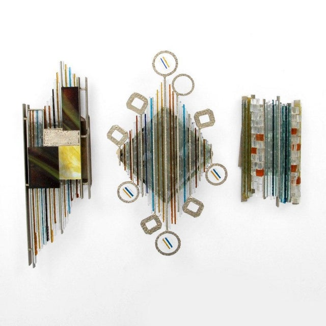 1970s Brutalist Sconces by Albano Poli for Poliarte - Set of 3 For Sale In Palm Springs - Image 6 of 6