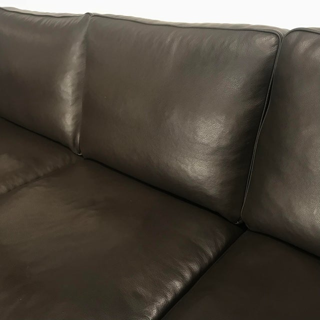 Vintage Danish Black Leather 3-Seat Sofa - Image 4 of 5