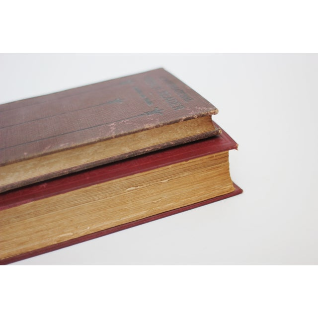 Antique Burgundy Books - A Pair - Image 5 of 9