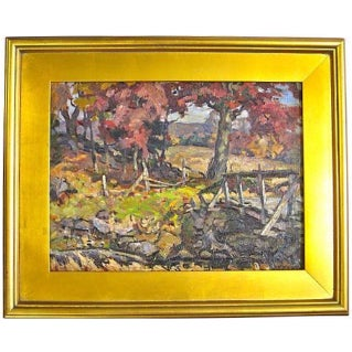 Frederick Sexton Painting - Autumn in Connecticut For Sale