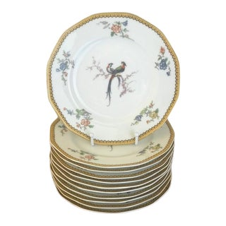 """1920s French Theodore Haviland Limoge """"Eden"""" Dinner Plates - Set of 11 For Sale"""