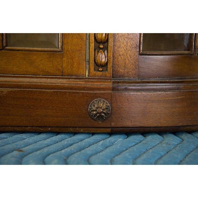 Gold Vintage French Oak Breakfront Display Cabinet For Sale - Image 8 of 10