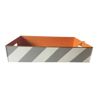 Stray Dog Designs Striped Chelsea Tray For Sale