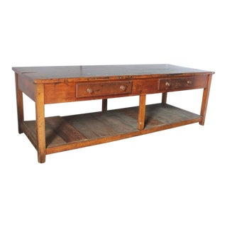 1930s Vintage American Library Study Wood Table For Sale