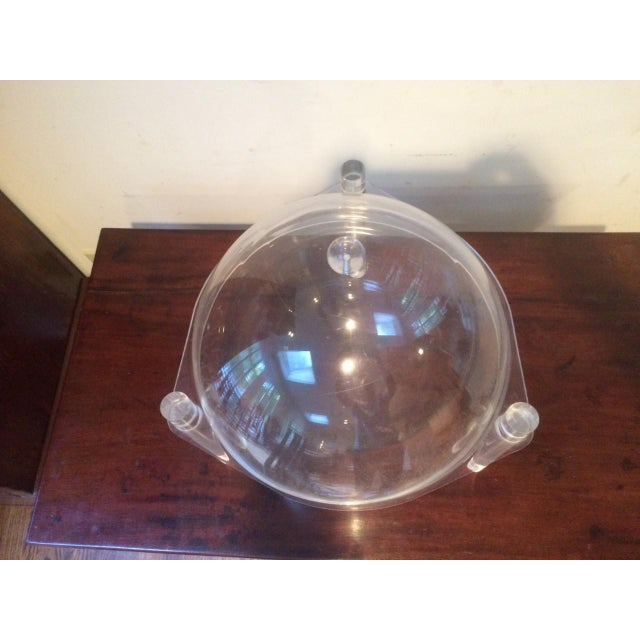 Mid 20th Century Mid-Century Lucite Covered Bowl For Sale - Image 5 of 8