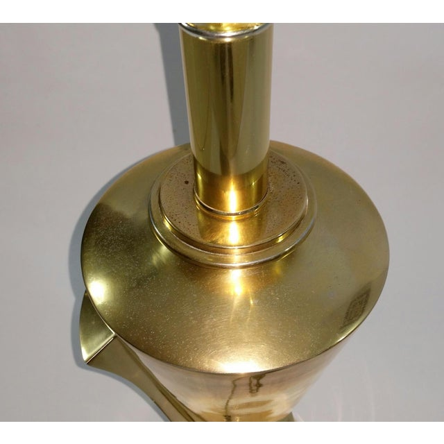 Hollywood Regency Sculptural Brass Table Lamp - Image 10 of 11