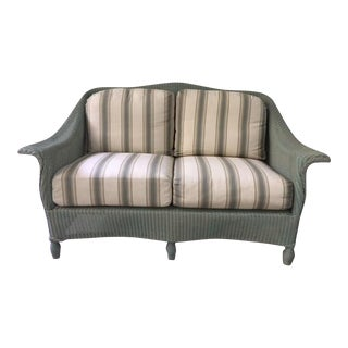 Lloyd Flanders Wicker Loveseat For Sale