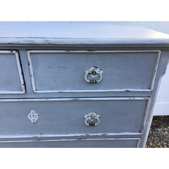 Late 19th Century Antique French Provincial Painted Chest For Sale - Image 5 of 11