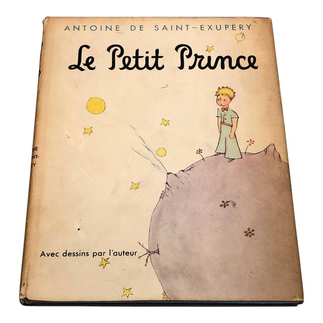 1943 Le Petit Prince Little Prince Hardcover Book French Edition Saint-Exupery For Sale