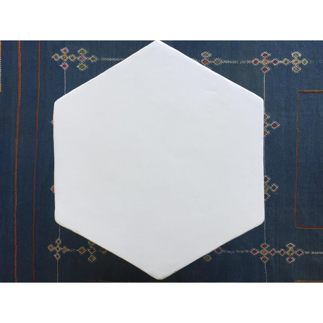 Plaster Plaster Hexagon Side Table For Sale - Image 7 of 9