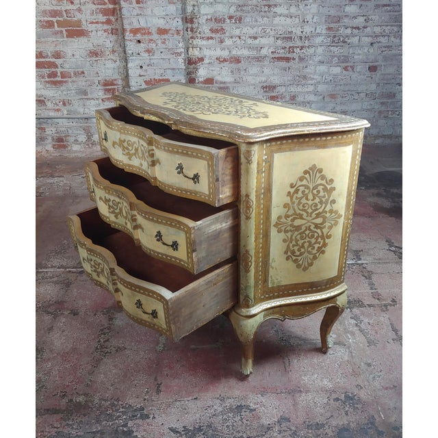 Beautiful Italian Florentine Gilt Chest of Drawers Commode For Sale In Los Angeles - Image 6 of 10
